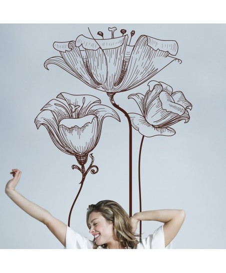 Vinil Decorativo Floral FL061