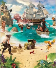 Painel Infantil PIRATE AND TREASURE